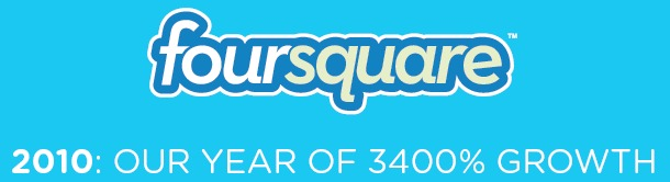 FourSquare growth 2010